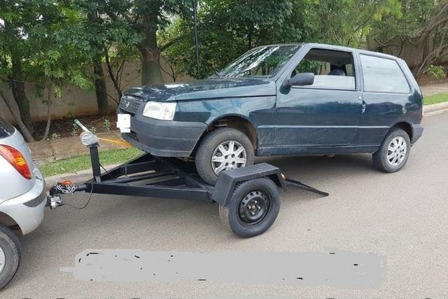 R$100,00 asa delta carretinha reboque guincho locação para puxar carro (aluguel)