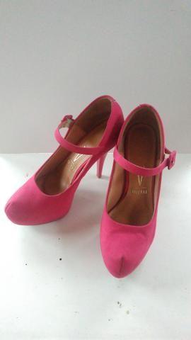 4e4544329 Sapato Scarpin Vizzano Camurça Pink - Roupas e calçados - Jardim das ...