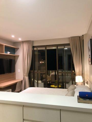 Alugo apartamento de 1 quarto, vista mar, - Foto 5