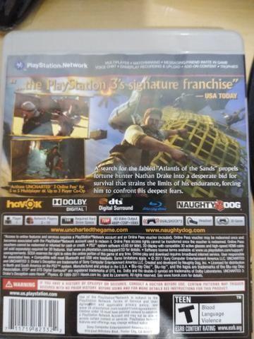 Jogo Uncharted 3 Drake's Deception para Playstation 3 - Foto 2