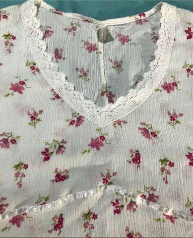 Camisa feminina de malha canelada social - Foto 4