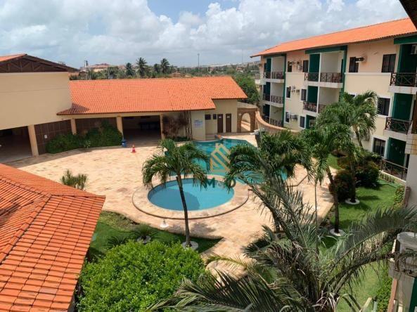 Apartamento com 1 dormitório para alugar, 52 m² por R$ 1.300/mês - Porto das Dunas - Aquir - Foto 3