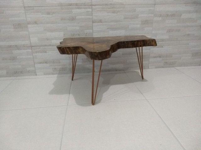 Mesa de Centro rústica com pés Hairpin Leg Triplo - Foto 2
