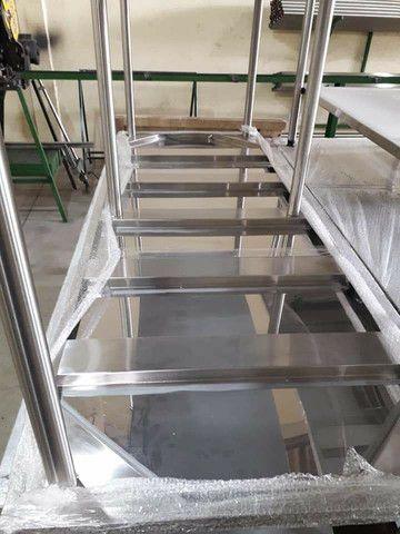Bancadas de Inox 1.90 x 70 x 90 altura  - Foto 6