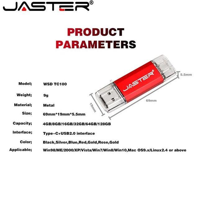 PENDRIVE JASTER 64GB TYPE C / USB - Foto 6