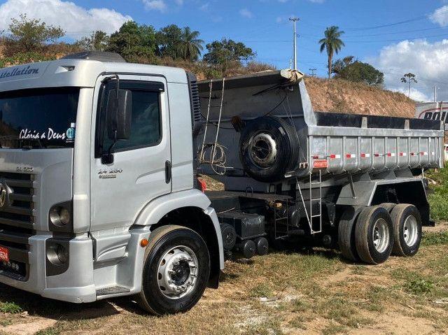 Caminhão caçamba 24250, ano 2009/2009. Preço 180.000 mil - Foto 5