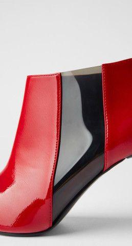Bota de salto com acabamento brilhante Zara - 35  - Foto 2