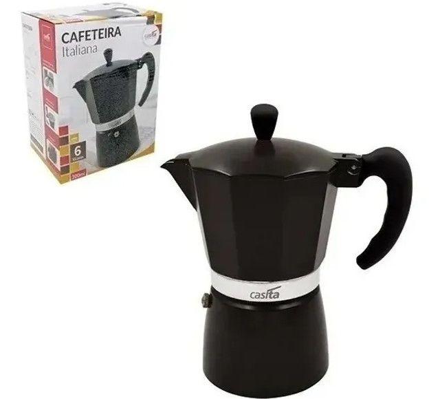 Cafeteira Italiana Moka 300ml (Serve 6 xícaras) [Entrega GRÁTIS*] - Foto 6