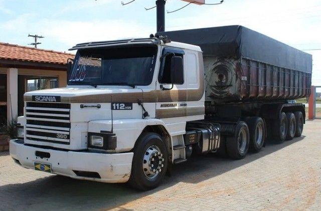 Carreta Caçamba Basculante 27m³ C/ Pneus Scania 112hw 6x2 -