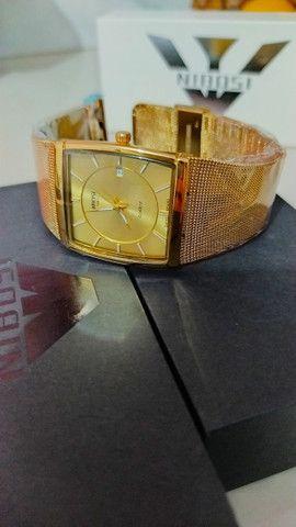Relógio Feminino Original Nibosi Promoção Aço Inox + Caixa