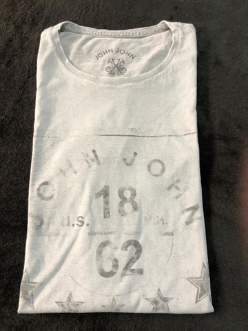 Camiseta John John Cinza