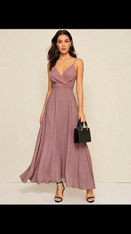 Vestido longo Rosé