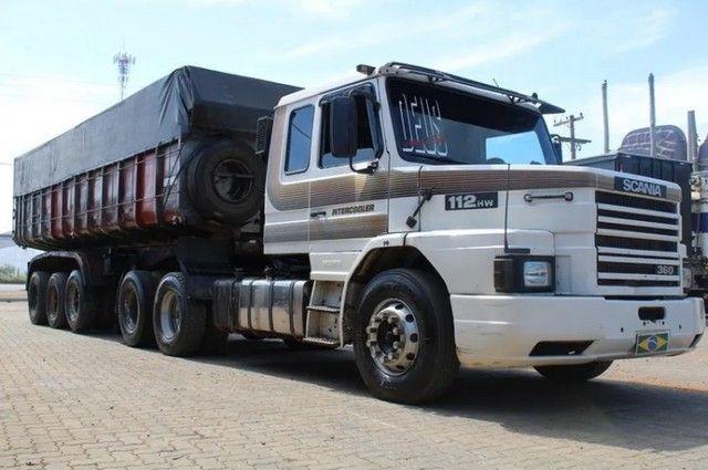 Carreta Caçamba Basculante 27m³ C/ Pneus Scania 112hw 6x2 - - Foto 3
