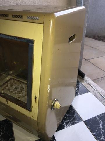 Aquecedor a gás antigo Prosdocimo funcionando