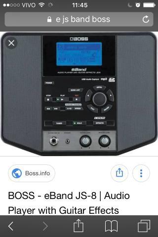 Boss- eBand js-8 áudio