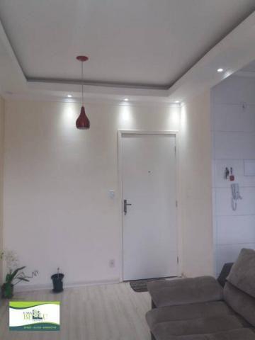 Apartamento com 2 dormitórios à venda, 54 m² por r$ 185.000 - companhia fazenda belém - fr - Foto 3