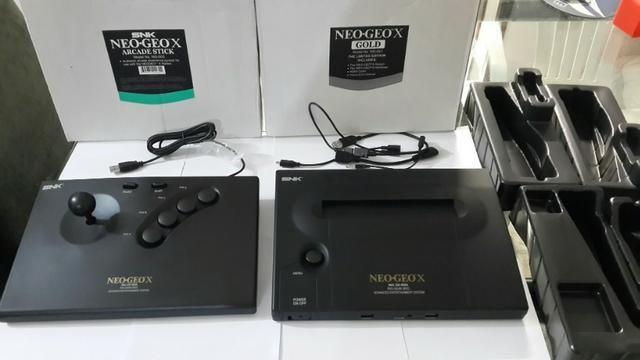 Neo Geo X Gold Dock Com 1 Controle Pronto Para Raspberry Pi 3