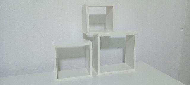 Kit com 3 nichos 100% MDF branco - Foto 3