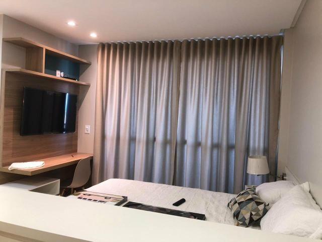 Alugo apartamento de 1 quarto, vista mar, - Foto 3