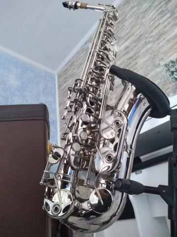 Sax alto Weril top de linha lindo - Foto 6