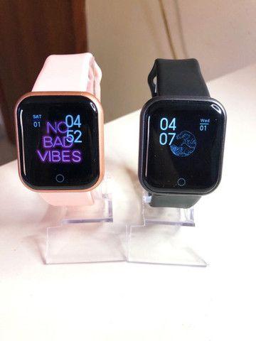 Smartwatch D20 Pro que coloca foto na promoção
