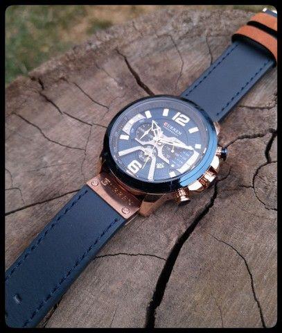 Relógio Masculino Curren Pulseira de Couro - Foto 3