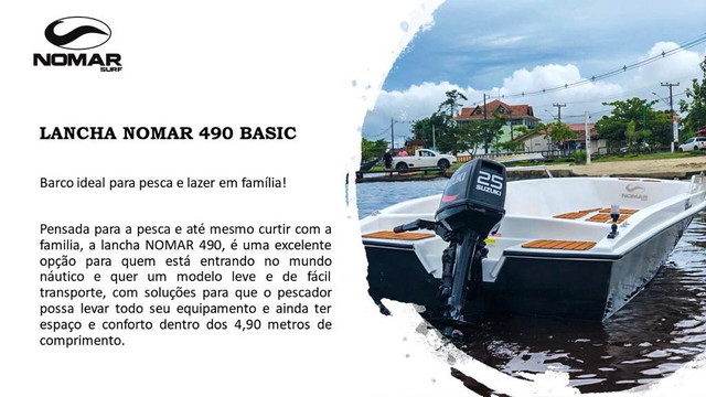 Lancha NOMAR 490 BASIC