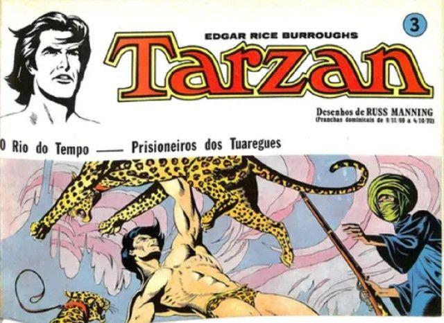 Tarzan-kit Pranchas Dominicais Russ Manning-Ebal 1976 - Foto 3