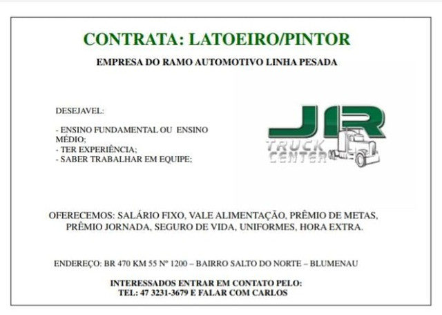 Contrata Latoeiro/Pintor