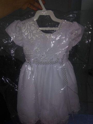 Vestido festa mundo bita+ vestido luxo para batizado - Foto 3