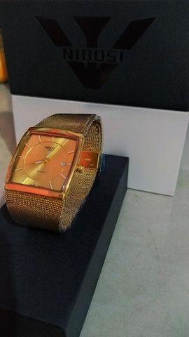 Relógio Feminino Original Nibosi Promoção Aço Inox + Caixa - Foto 3