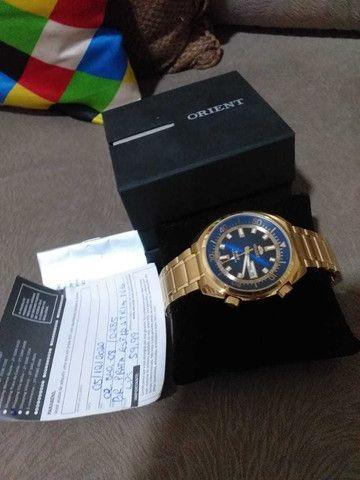 Relógio Orient Dourado - Foto 2