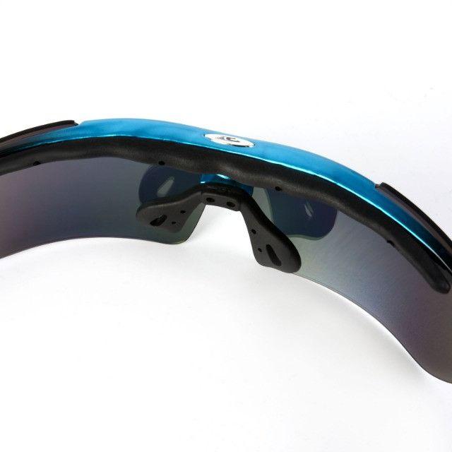 Kit Óculos 5 Lentes Polarizado para Ciclismo Bike MTB Speed Pedal Pescaria Futevôlei - Foto 6