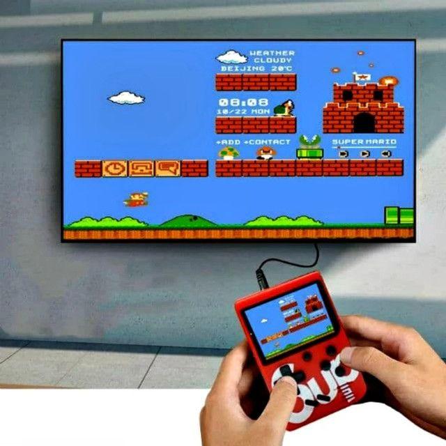 Mini Vídeo Game Boy Portátil Sup 400 Jogos Retrô Nitendo - Foto 4