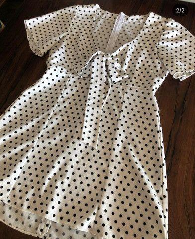 Vestido de bolinha tamanho P - Foto 2