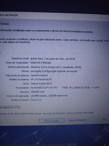 Compaq Presario CQ42 - Dual-Core 2.3GHz/4gb/SSD 120GB/Bateria não carrega. - Foto 3