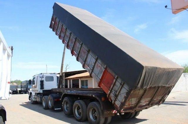 Carreta Caçamba Basculante 27m³ C/ Pneus Scania 112hw 6x2 - - Foto 4
