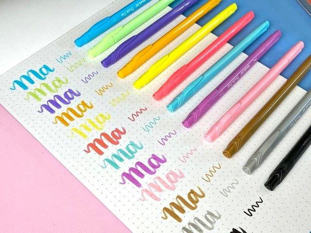 Canetas pastel brush duo c/12 cores Molin - Foto 2
