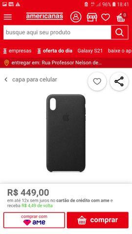 Capa original IPhone XS Apple - Foto 3
