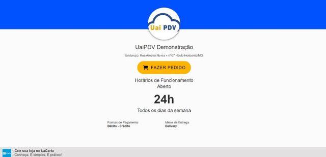 PDV Com Cardápio Digital Integrado