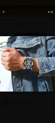 Relógio Masculino Curren Pulseira de Couro - Foto 5