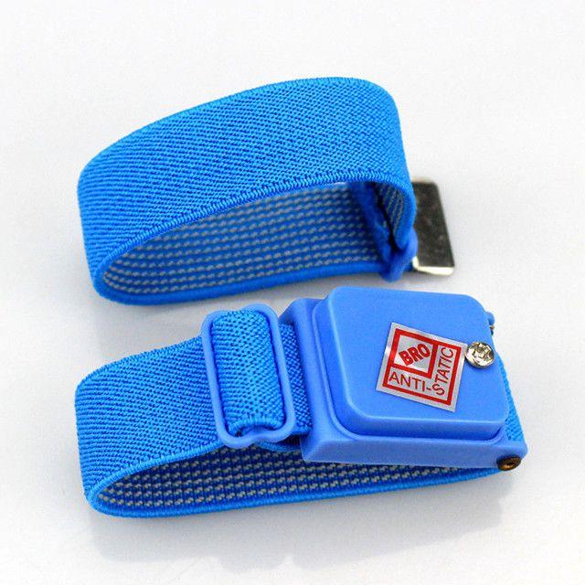 Pulseira Proteção Anti Estática Profissional Sem Fio - Azul - Foto 4
