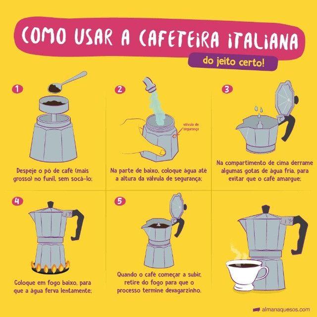 Cafeteira Italiana Moka 300ml (Serve 6 xícaras) [Entrega GRÁTIS*] - Foto 4