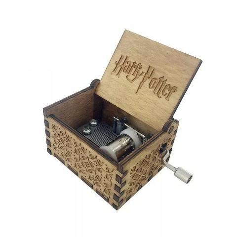 Caixinha De Musica Harry Potter, Game of Thrones e Star Wars Em Madeira Natural e azul
