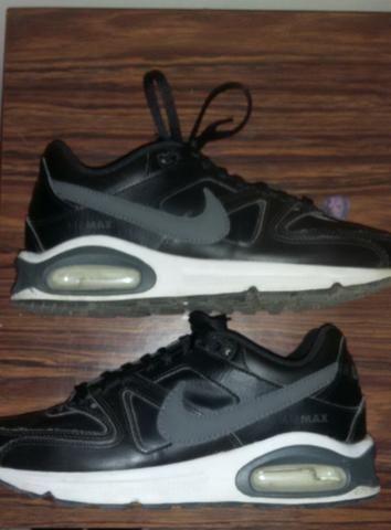 8d6e446ed08b58 Tênis Nike Air Max Command Leather Masculino - Preto e Cinza/tamanho ...