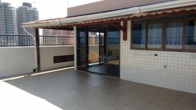 Cobertura com 3 dormitórios para alugar, 256 m² por r$ 5.000/mês - canto do forte - praia  - Foto 5