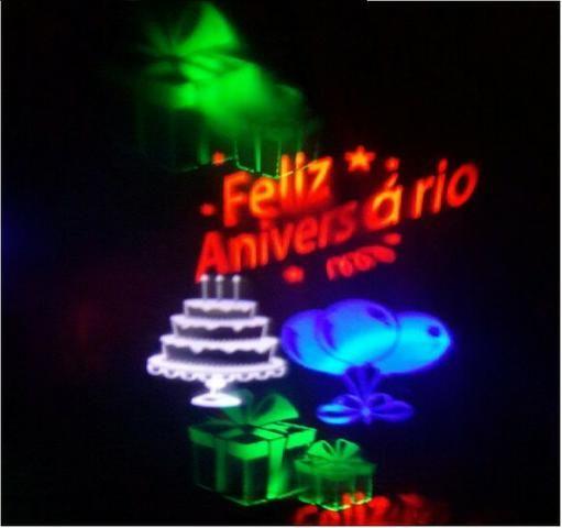 Luminária Espeto Desenhos Holográficos Aniversario Bivolt 5w - Foto 3