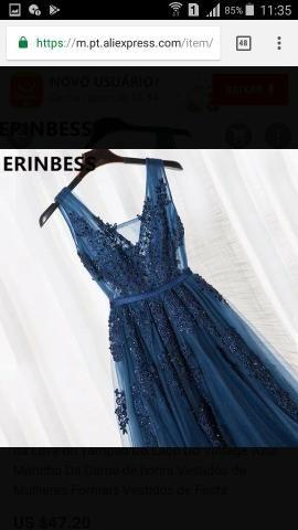 ec560e6fc Vestido festa azul - Roupas e calçados - Bangu