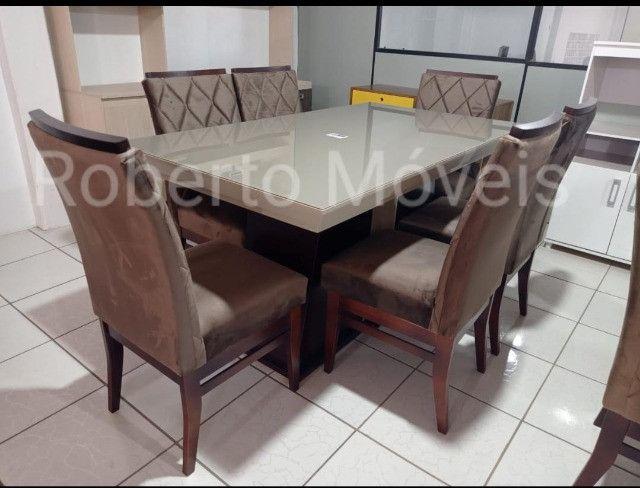 Promoção Mesa de Vidro Com 6 Cadeiras Nova !!