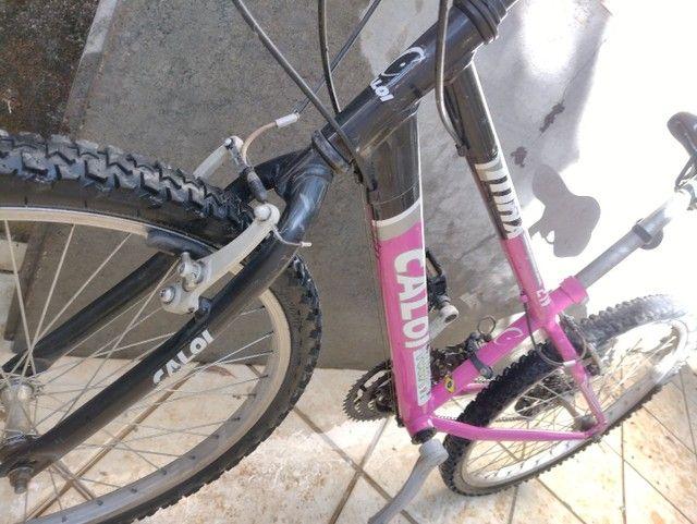 Bike Caloi feminina 24  - Foto 3